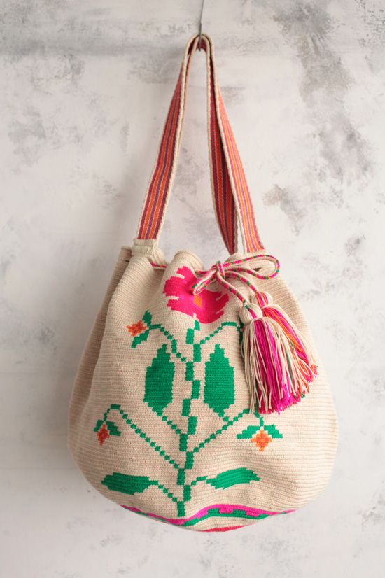 Handmade Big Wayuu bag.