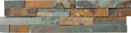 Ledgerstone in Sierra stone mosaic backsplash by Elements from International Wholesale Tile | On display at Carpet One Floor & Home in Ocala & The Villages, Fl