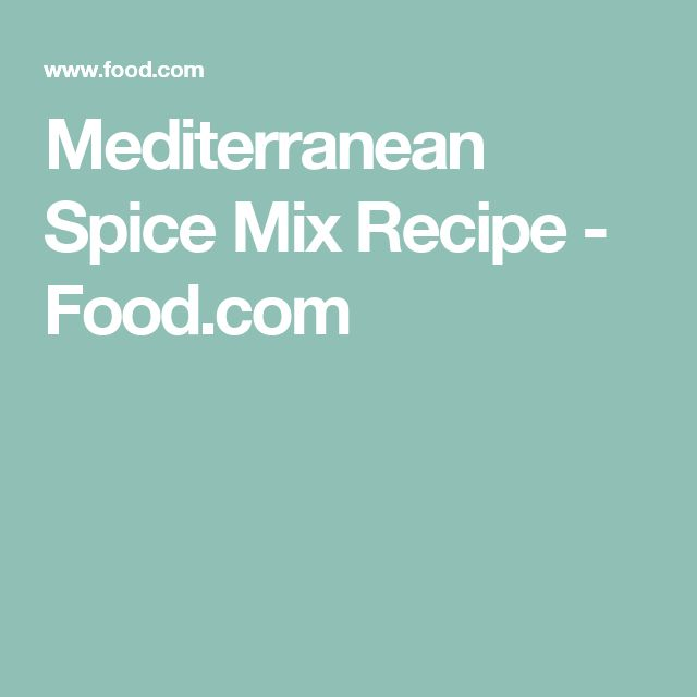 Mediterranean Spice Mix Recipe - Food.com