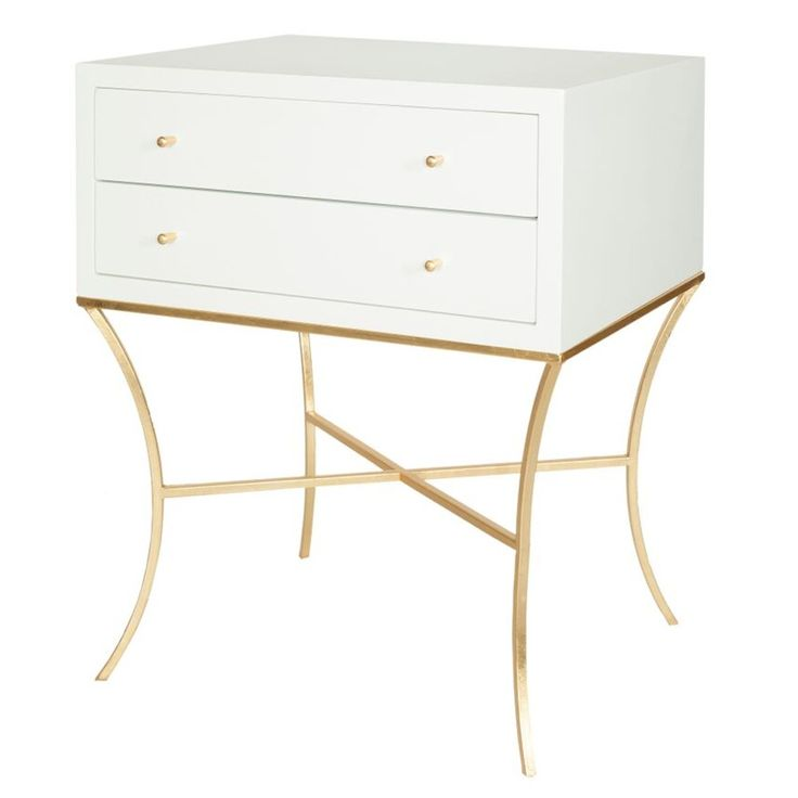 Side Table With Storage #sidetabledesign #whiteandgold #moderndesign Living  Room Design, Modern Living