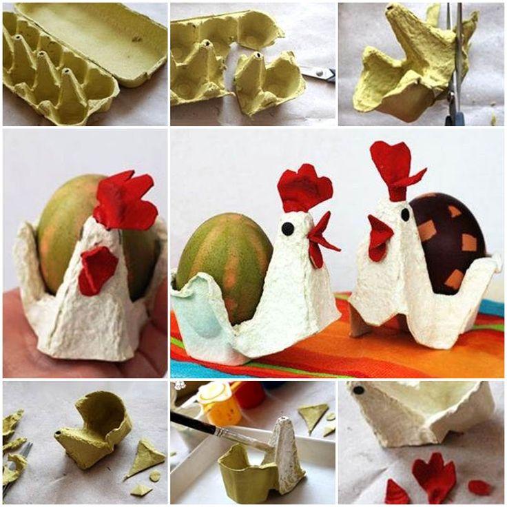 Egg Carton Craft – Chicken and Egg https://www.facebook.com/icreativeideas