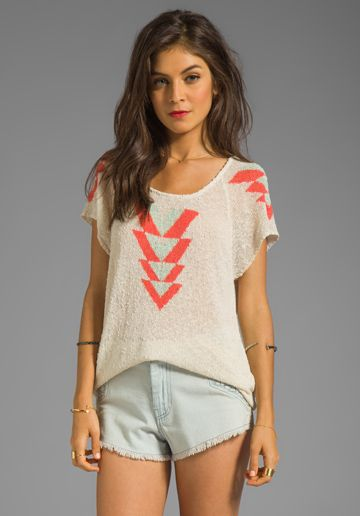 ETERNAL SUNSHINE CREATIONS Arrows Tee in Birch at Revolve Clothing - Free Shipping!