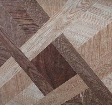 Wood look alike shiny floor tile size (450x450)