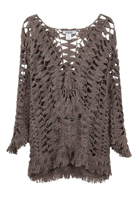 beautiful hairpin lace tunic