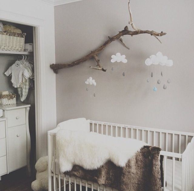 Earthy Toned Nursery - white, brown and grey themed nursery for either a boy or girl