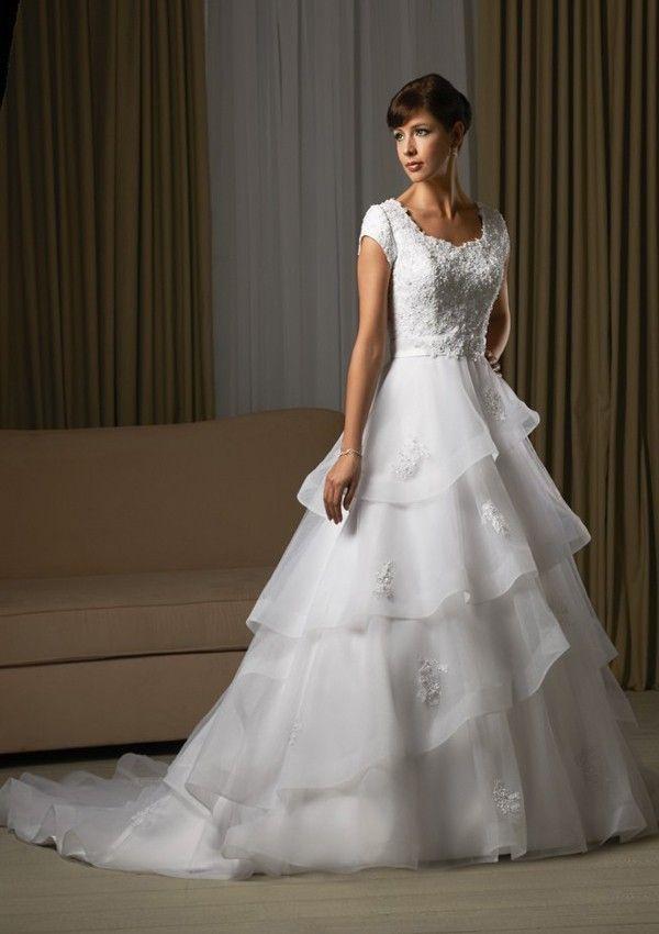 159 best Modest wedding dresses images on Pinterest | Wedding frocks ...