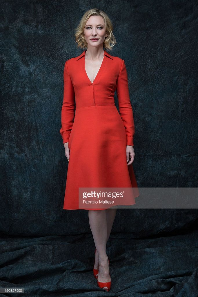 Actor Cate Blanchett is photographed in Cannes, France.