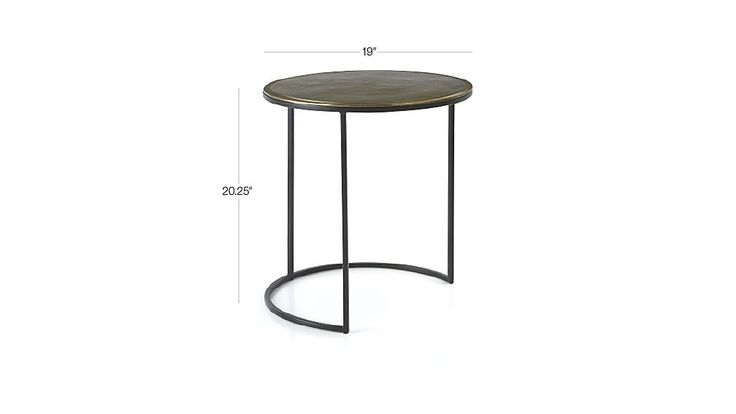 Knurl Large Accent Table Inside Crate Barrel Table