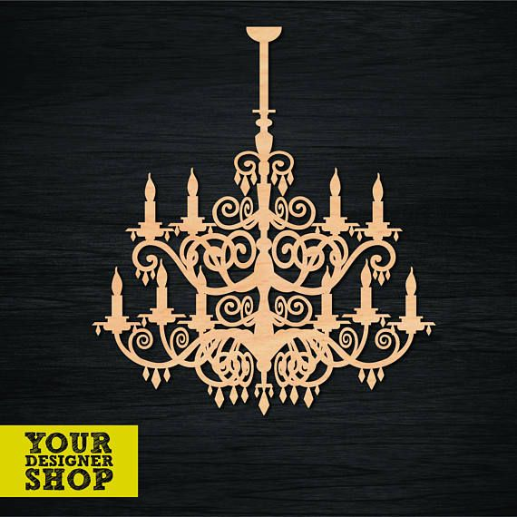 Laser models for cutting. Vintage chandelier.svgeps files
