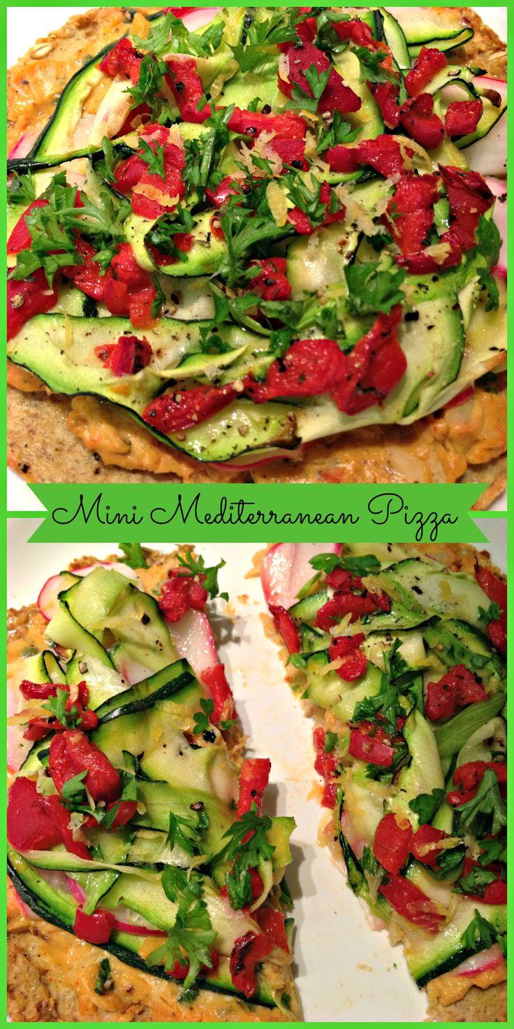 Gluten Free Mini Mediterranean Pizza: http://spicysweetpotato.blogspot.com/2013/07/mini-mediterranean-pizza.ht...