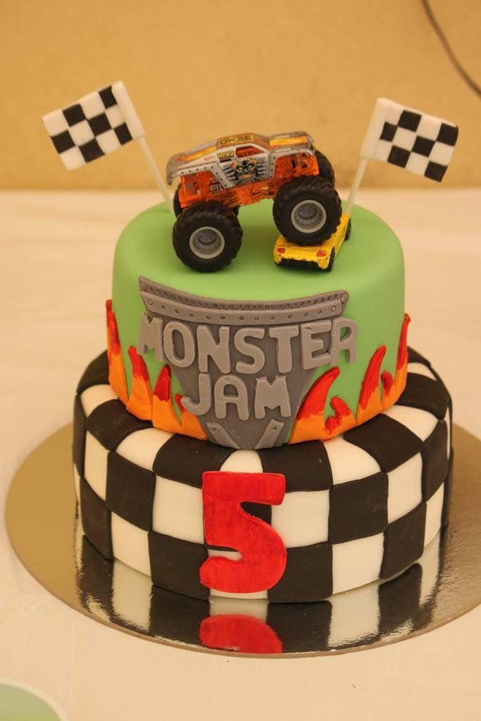 Simple Monster Jam Cupcake Cake Making