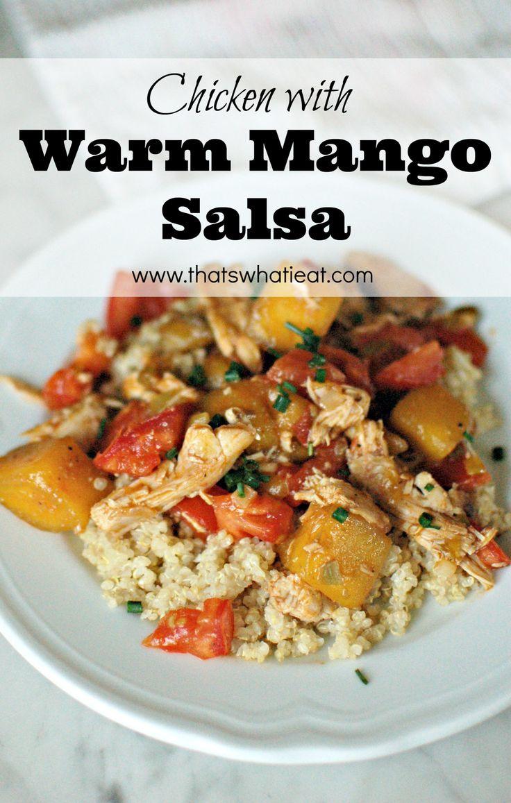 Chicken with Warm Mango Salsa