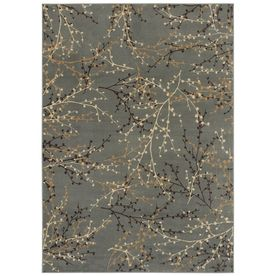 [For reference: living room rug] Shaw Living�Berries 7-ft 10-in x 10-ft 10-in Rectangular Blue Transitional Area Rug