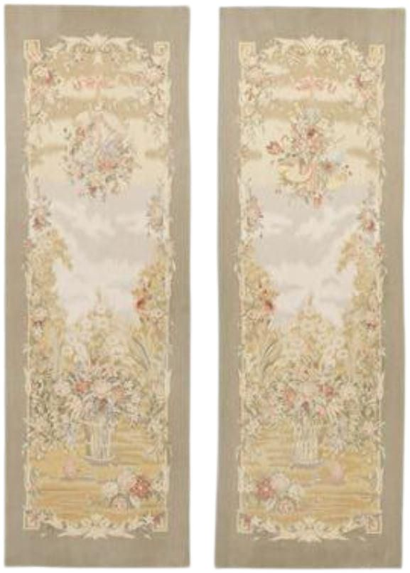 Chinese Aubusson Wall Tapestries - A Pair