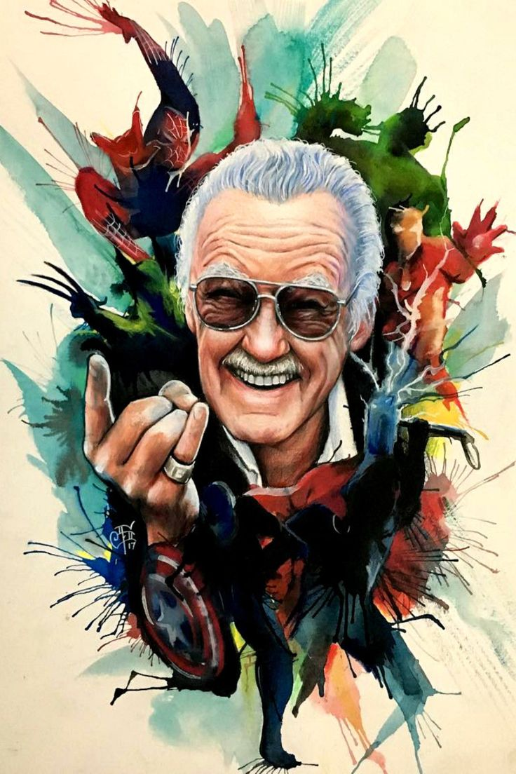 STAN LEE 12×18 ART POSTER HEROES MARVEL SPIDERMAN HULK IRON MAN AVENGERS THOR