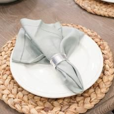 Fixer Upper: Antique Napkin Holders on Place Settings