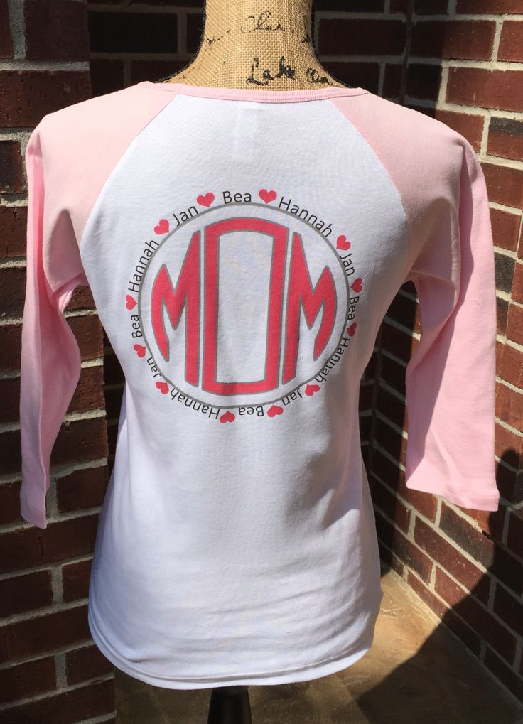 Custom Mother S Day Shirt Jersey Raglan Mom Shirt Mom