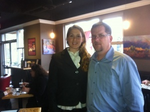 Week 8 I had a coffee with Desiree Dupuis.  Thank you Desiree for a wonderful afternoon.