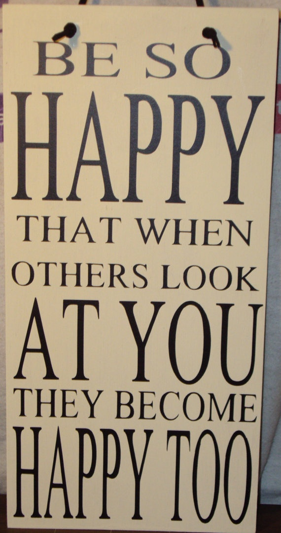 Be So Happy Wood Sign w/ Vinyl Lettering by Creations316 on Etsy, $20.00