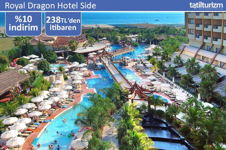 Çin mimarisinin ince detaylarının her yerde görüldüğü Royal Dragon Hotel Side, 238 TL'den başlayan fiyatlarla sizi bekliyor.