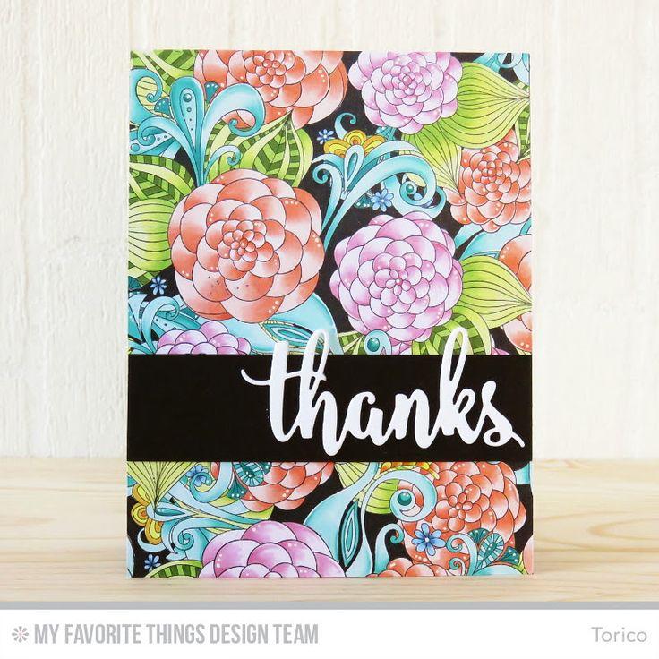 Floral Fantasy Background, Thanks & Hello Die-namics - Torico  #mftstamps