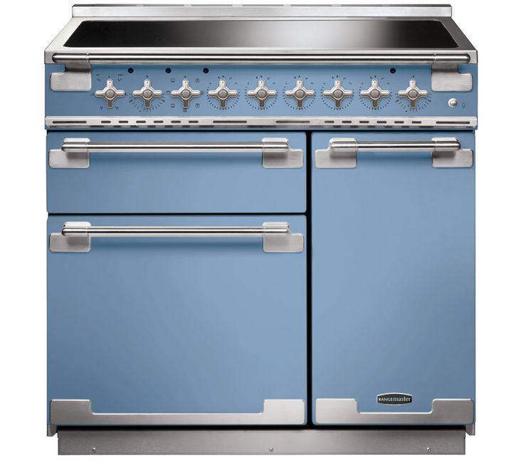 Elise 90cm Range Cooker - China blue. Induction Hobs | Rangemaster