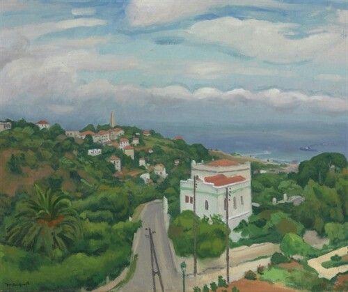 Albert Marquet (French, 1875-1947), Temps nuageux à Alger [Cloudy weather, Algiers], 1930. Oil on canvas, 54.29 x 65.09 cm.