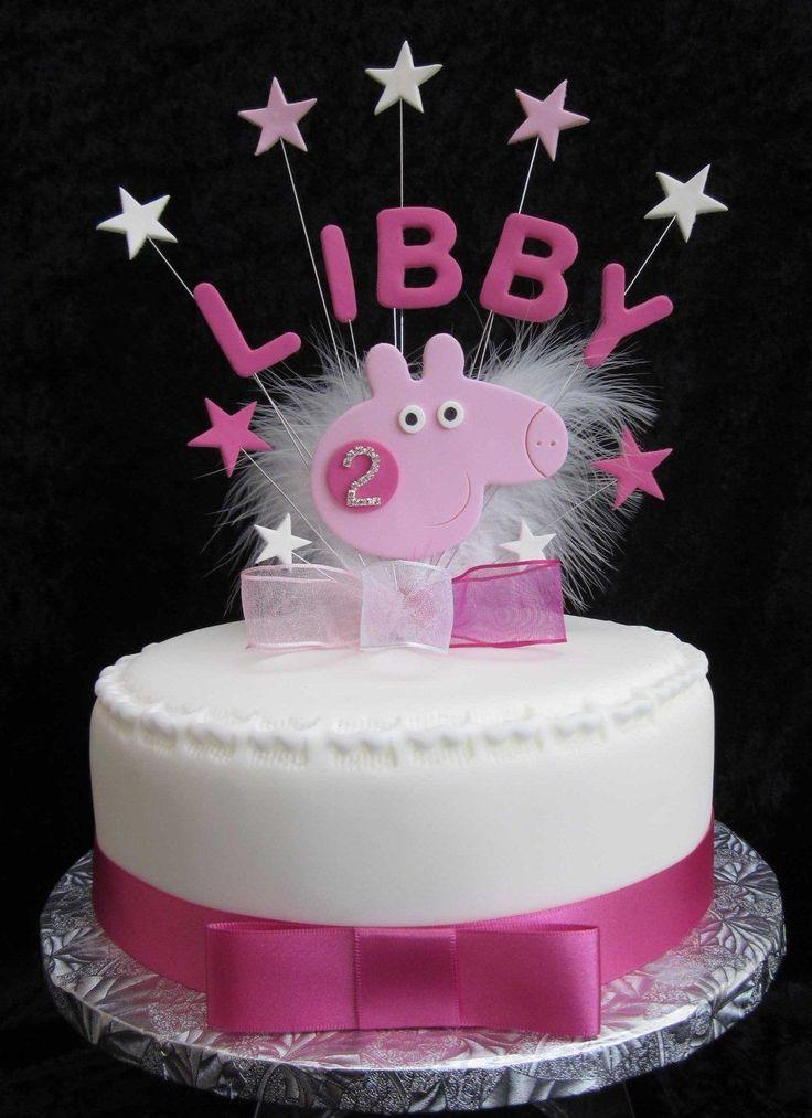 Handmade Birthday Name Age Cake Topper Peppa Pig