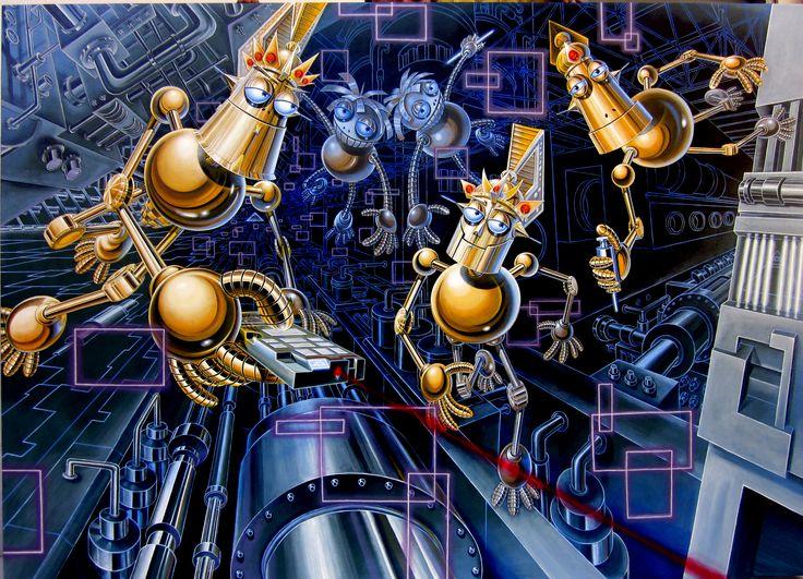 "Tri Wahana, - ""Playing"", - Acrylic on canvas, - 180 x 130cm, - 2011"