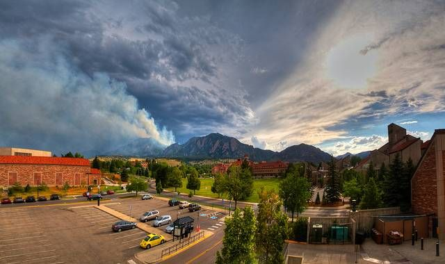 28 Things You Need To Know Before You Move To Colorado:  Everyday At The University Of Colorado Boulder Is Picture Perfect.  With a view of the Rocky Mountains and the Flatirons easily seen from around campus, Boulder gives students a view that can't be beat.  Football games in Boulder are unbelievable, as fans can cheer on the Buffs while seeing snow-capped peaks from the bowl.