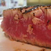 Seared Tuna in Pepper Crust. Another great recipe, but many people tend to overcook the tuna. Don't be afraid leaving the center raw!