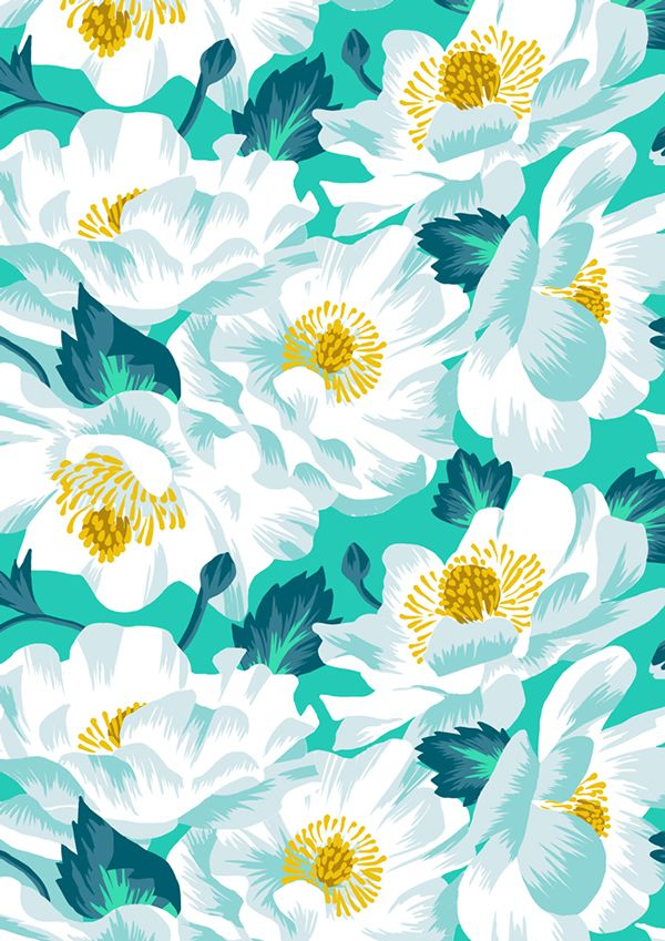 Mount Cook Lily Repeat Print on Behance