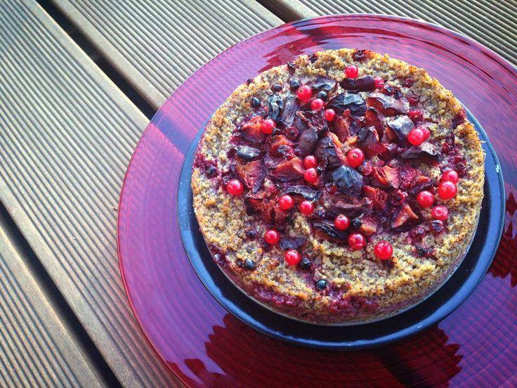 Bezlepkový pšenový koláč s makom a ovocím