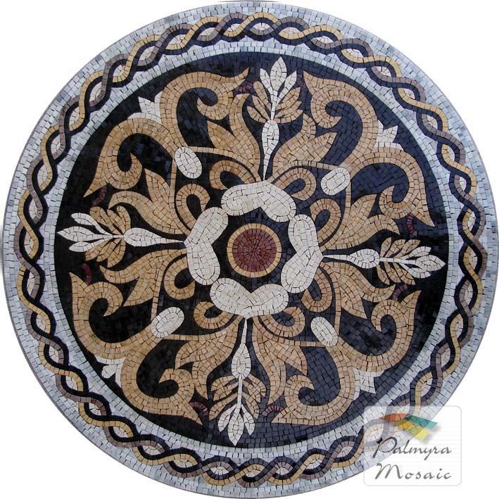 MD002 Marble Mosaic Medallion
