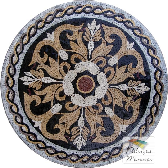 MD002 Marble Mosaic Medallion