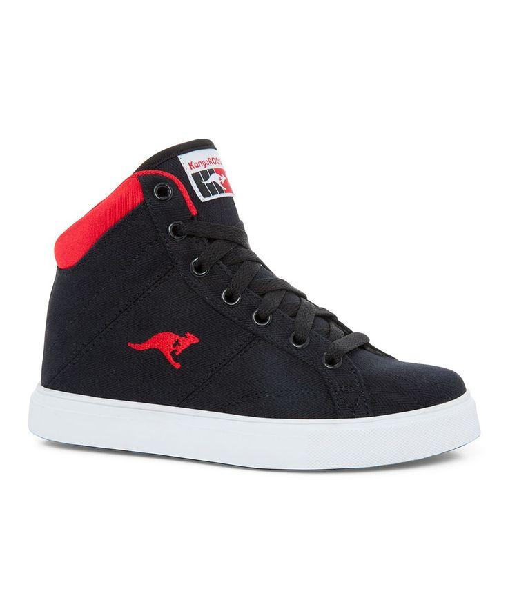 Black & Red Coastville Hi-Top Sneaker - Kids