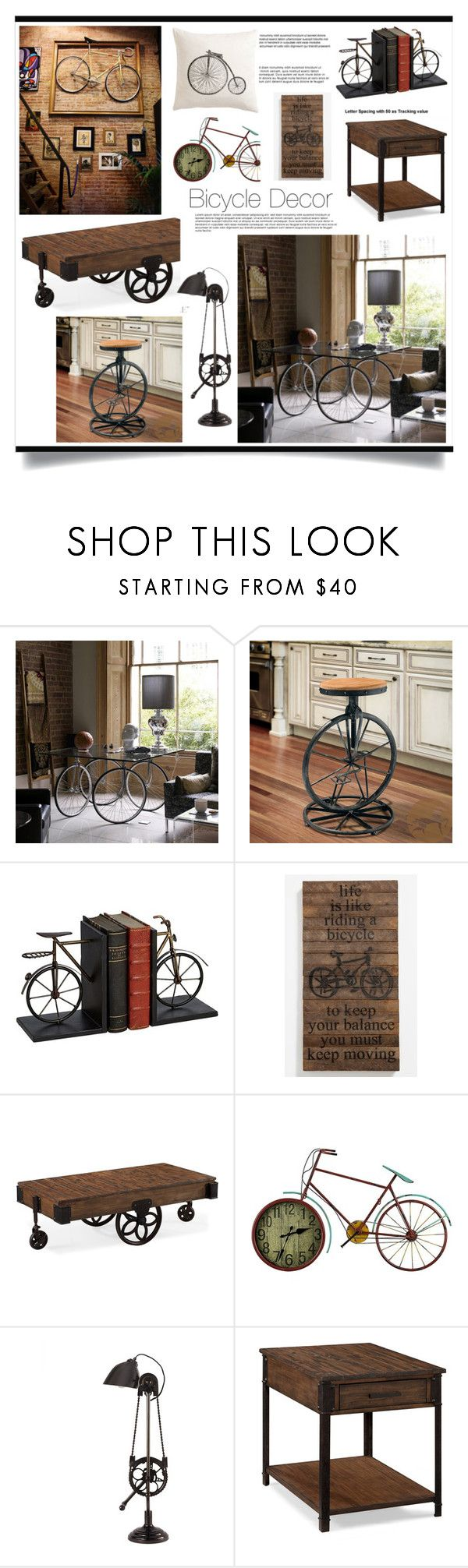 """""""Bicycle Decor"""" by jecikilicica ❤ liked on Polyvore featuring interior, interiors, interior design, home, home decor, interior decorating, WALL, Christopher Knight Home, Second Nature By Hand and Magnussen Home"""