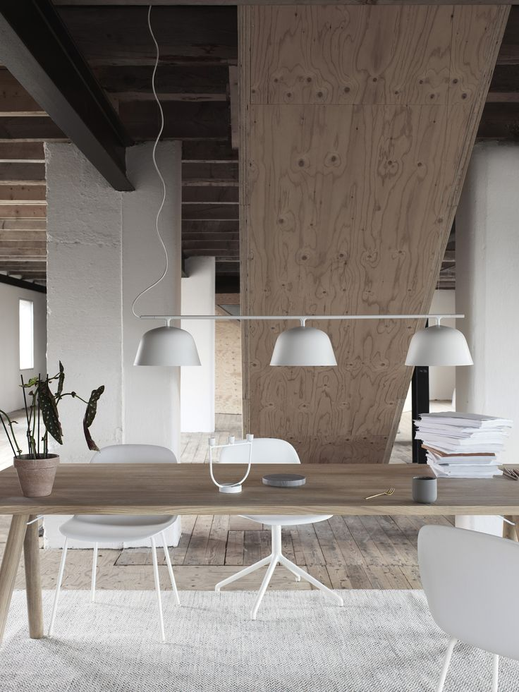 The Ambit Rail Lamp Is A Great Fit For A Scandinavian Dining Setting.