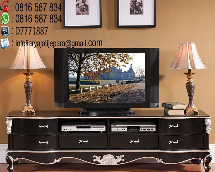 bufet tv kayu jati klasik ini dibuat oleh pengrajin kami yang sudah sangat handal dan mempunyaai kontruksi yang sangat kuat dan berkwalitas awet