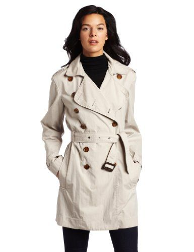French Connection Women`s Franco Twill Long-Sleeve Classic Trenchcoat $142.56