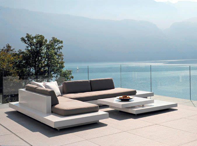 Modular sofa / contemporary / outdoor / fiberglass PLATFORM by Florian Viererbl RAUSCH Classics GmbH