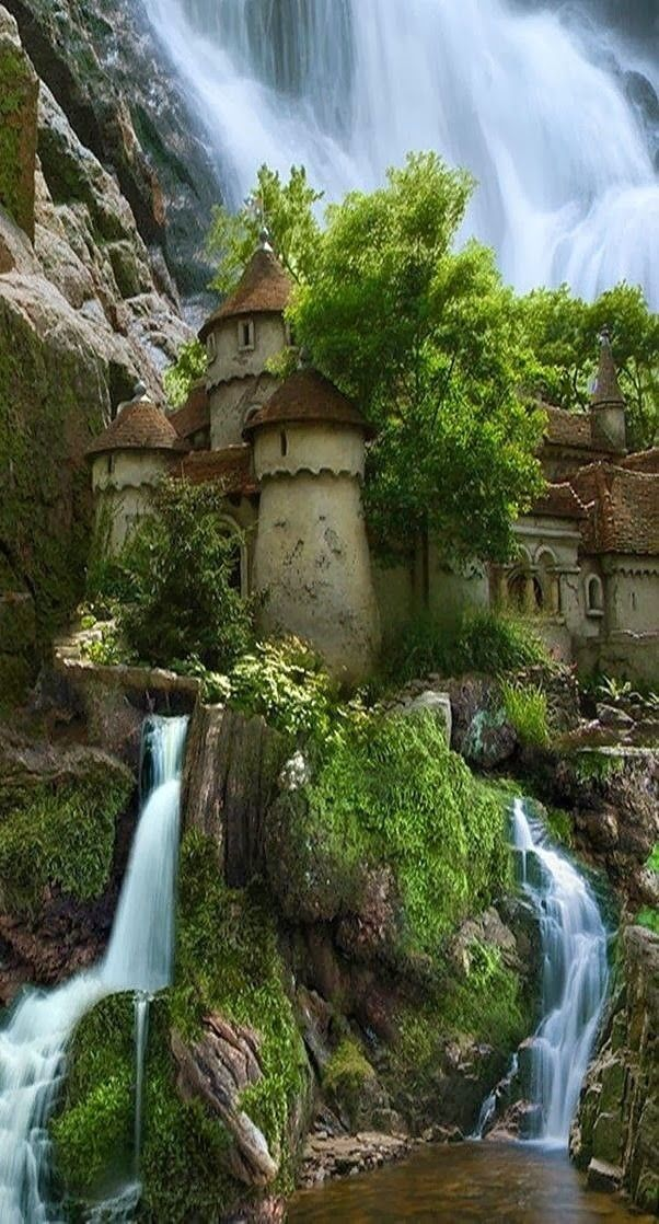 Little Blue Sash hastened to the castle. But with each pace, the distance to the building grew. (Pretend Waterfall Castle, Poland.)