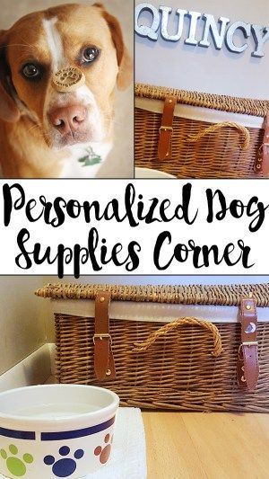 Personalized Dog Supplies Corner | Hobnail House