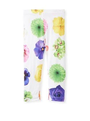 48% OFF Monnalisa Girl's Flower Leggings (Multicolor)