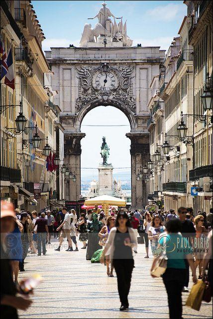 Rua Augusta Arch | Rua Augusta Lisbon's Main Pedestrian Street | Flickr: Intercambio de fotos