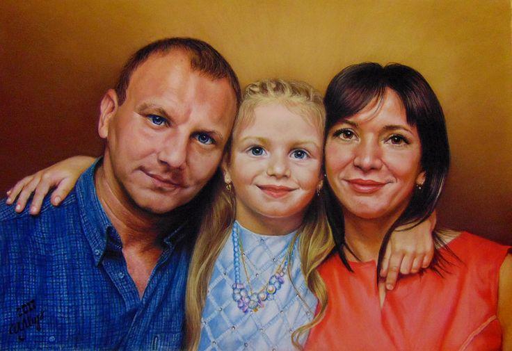 Pastel painting, Pastelmat, 35x50 cm