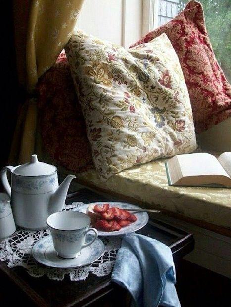 A good book and a pot of tea!