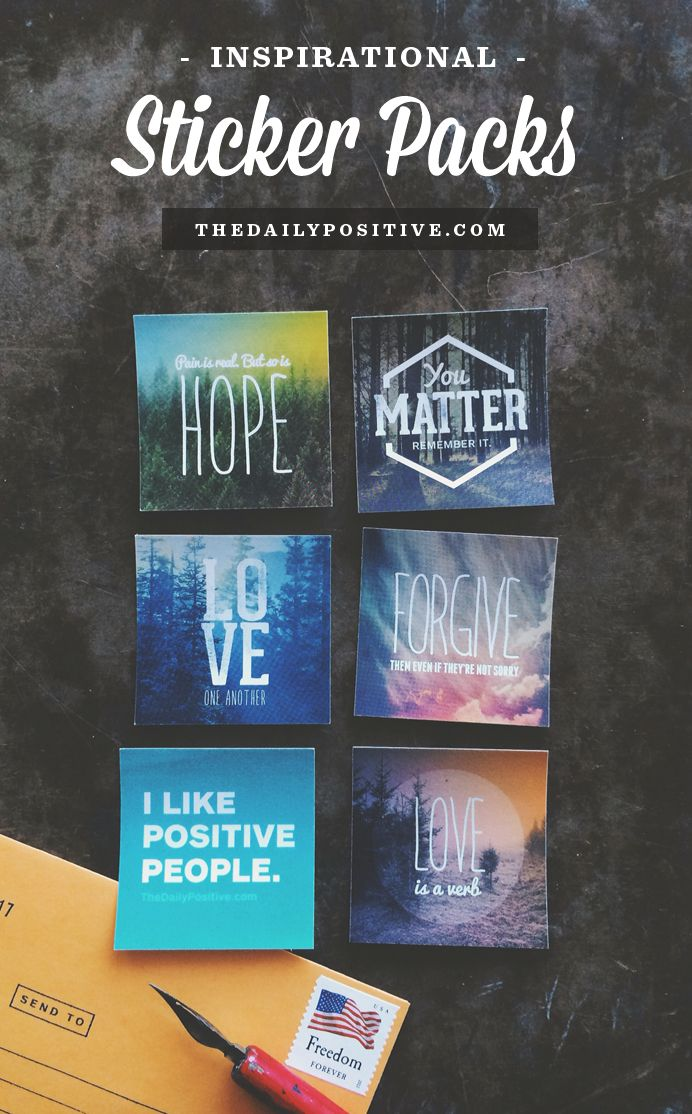 Help us fight anxiety and depression by picking up a positive sticker pack. Post a sticker, inspire a stranger.
