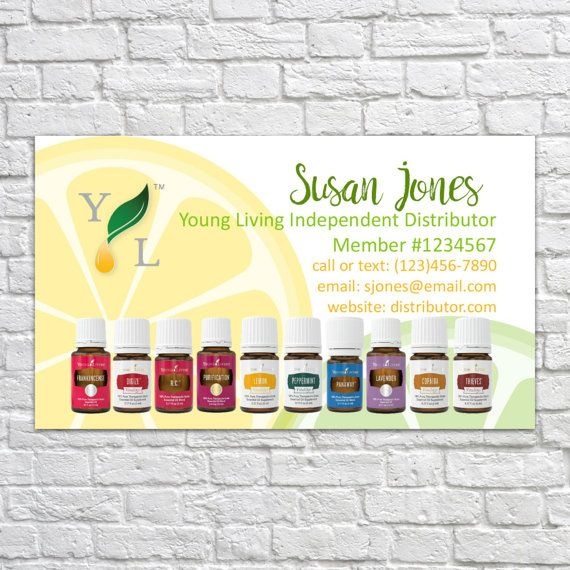 Customizable Printable Young Living Essential Oil Business Cards - printable membership cards