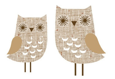 owl wall stickers from dawanda
